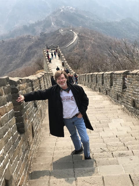 Allen Steele visiting the Great Wall of China