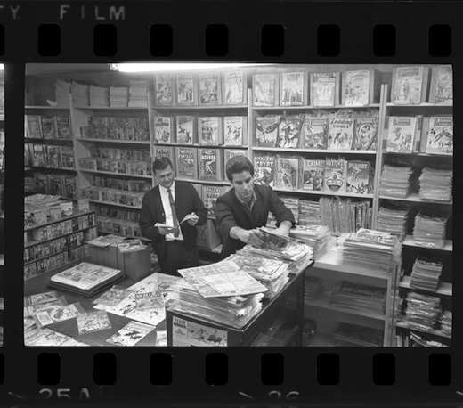 Burt Blum in the original Cherokee Book Shop Comics Section