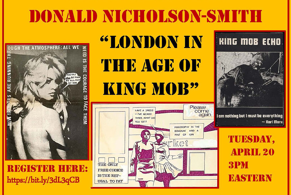 London in the Age of King Mob poster,Yale Beinecke event
