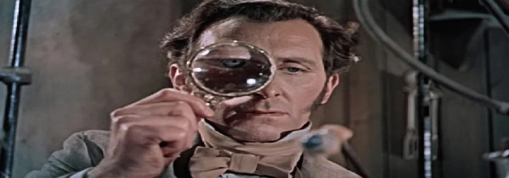 Peter Cushing in The Curse of Frankenstein (1957)