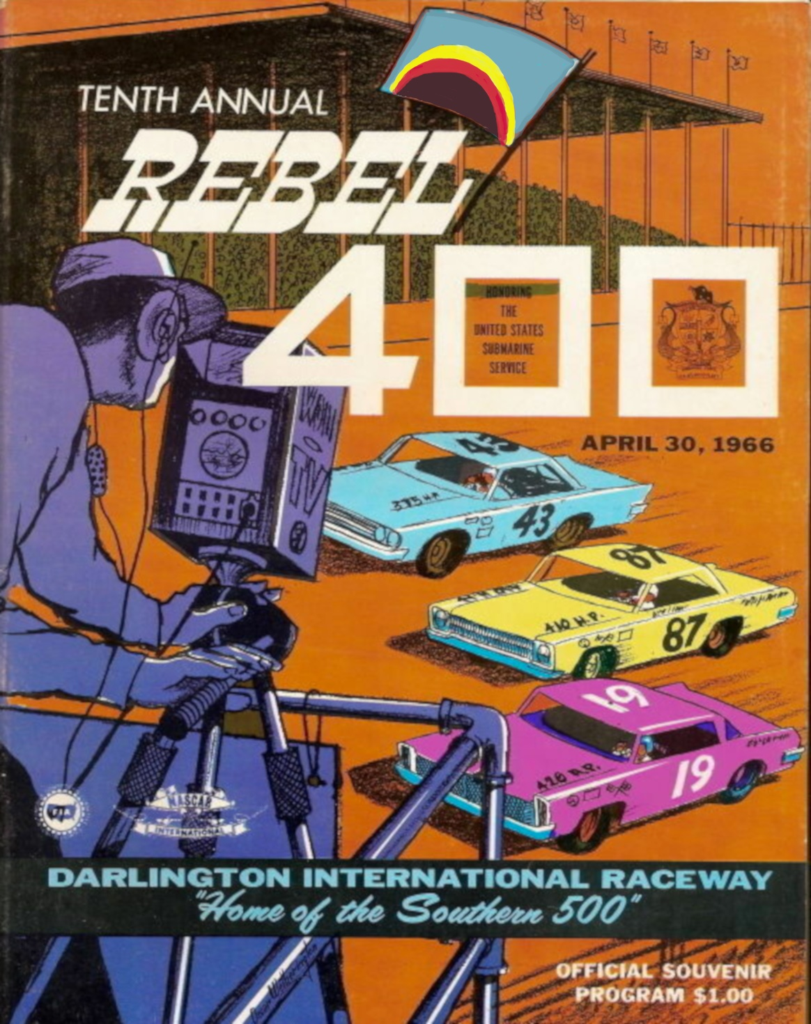 Darlington Speedway Poster, 1966